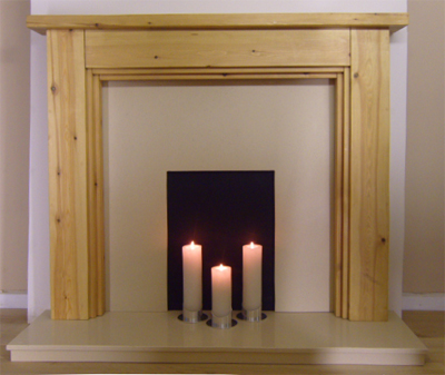3 Step Pine Fire Surround