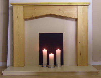 Cathedral Pine Fire Surround