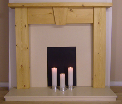 Contemporary Keystone Pine Fire Surround