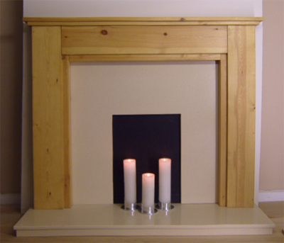 Stepped Pine Fire Surround
