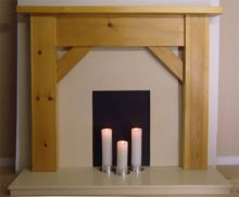 Contemporary Angle Pine Fire Surround