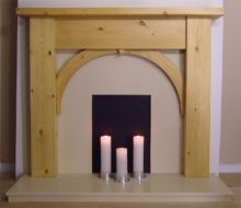 Contemporary Arch Pine Fire Surround