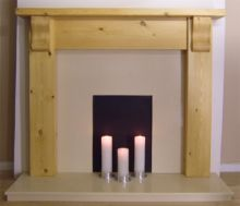 Contemporary Corball Pine Fireplace Surround