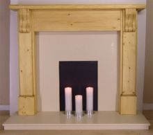Fluted Corball Pine Fireplace Surround