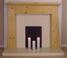 Tapered Leg Pine Fire Surround